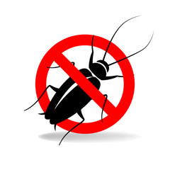 Anti cockroach  vector sign for insecticide