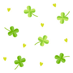 Clover pattern with white background