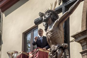 Jesús expirando en la cruz, semana santa en Sevilla, Hermandad del Cachorro