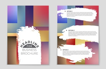 Abstract vector layout background set. For art template design, list, front page, mockup brochure theme style, banner, idea, cover, booklet, print, flyer, book, blank, card, ad, sign, sheet,, a4