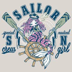 Mermaid on a rudder