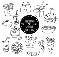 Hand Drawn Fast Food Collection