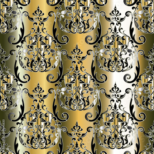 leaf scroll wallpaper vintage patterns - photo #13