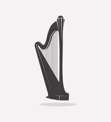 Harp Vector Logo