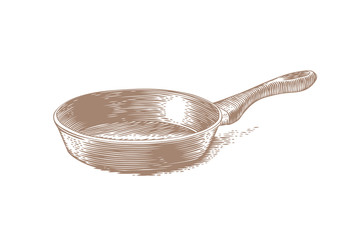 Isolated black frying pan