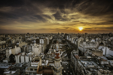 Buenos Aires Skyline at Sunset