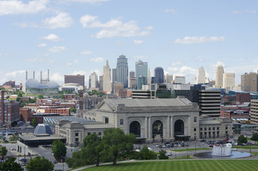 Downtown Kansas City, Missouri in Summer