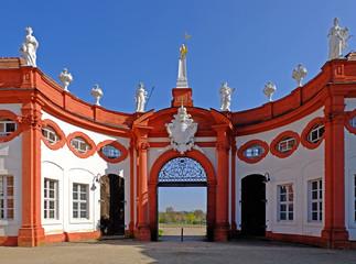 Schloss Seehof, Eingang