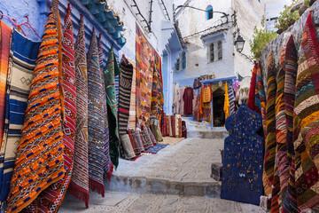 Magasin de tapis à Chefchaouen, Maroc