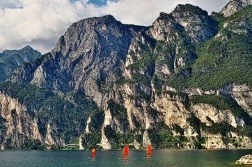 Surfen auf dem Gardasee