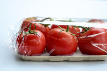 Plastic Wrapped Tomatoes