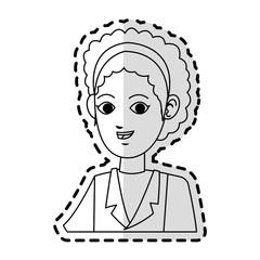 young woman in uniform  cartoon icon image vector illustration design