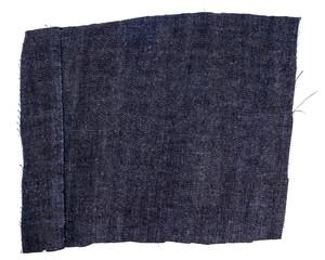 Piece of dark blue jeans fabric