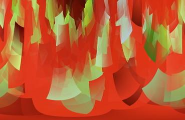 Roter Hintergrund mit kegelförmigem Muster