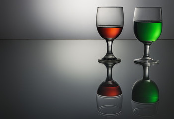 Drink wine glasses