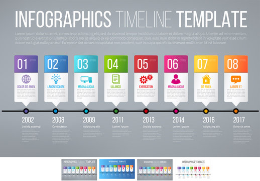 Bright Timeline Infographic 4