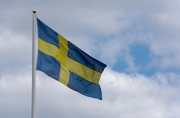 Swedish flag, picture with space for text