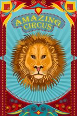 Vintage retro Circus Party banner poster design
