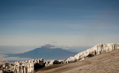 Mount Meru  vom Kilimanjaro