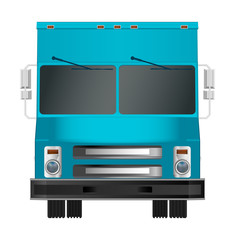 truck template. Cargo van Vector illustration EPS 10 isolated on white background. City commercial vehicle delivery.