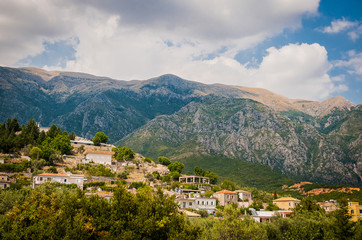 2016, Albania, Llogara National Park, Llogara Pass. Vlore county, view to the bay and beach