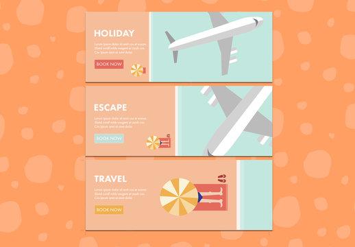 Three Modern Travel Web Banners