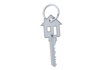 Home key with house silhouette, 3D rendering