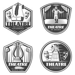 Vintage Classic Theatre Emblems Set