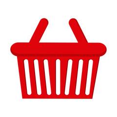 shopping basket icon over white background. colorful design. vector illustration