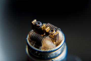 Close up on e-cigarette coils