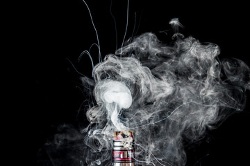 Vaporizer tank with cloud of smoke