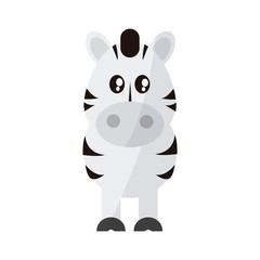 zebra animal cartoon icon over white background. colorful design. vector illustration
