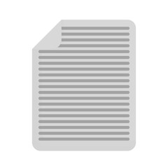 document page icon over white background. vector illustration