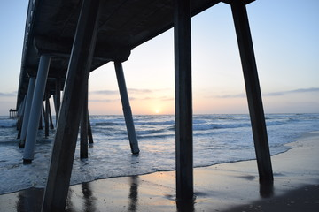 Taken at hermosa beach pier