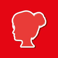 Woman head silhouette icon vector illustration graphic design