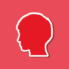 Man head silhouette icon vector illustration graphic design