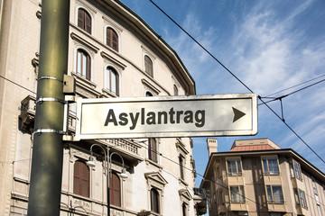 Schild 242 - Asylantrag