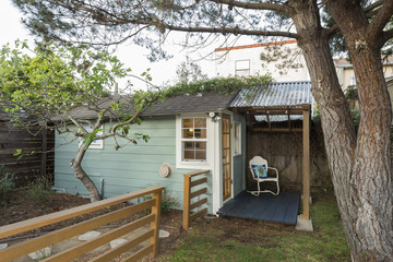 Side view of cozy country style guest house