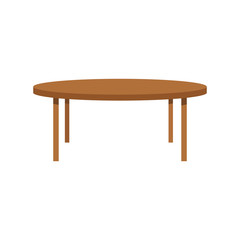 round table wood furniture vector illustration eps 10
