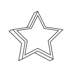 star decoration symbol image outline vector illustration eps 10