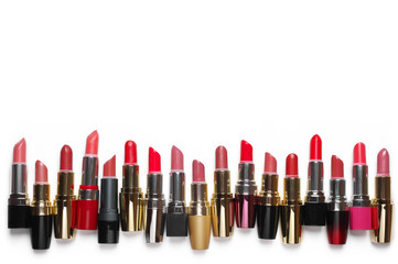 Colorful cosmetic lipsticks set