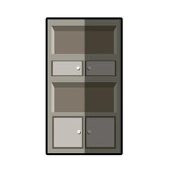 cupboard furniture wooden decoration vector illustration eps 10