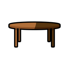 wooden table furniture decoration shadow vector illustration eps 10