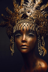 Canvas Prints Bestsellers Bronze statue with head decoration