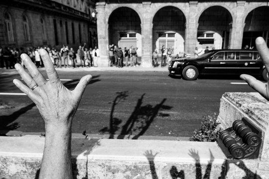 Obama visits Havana, Cuba.