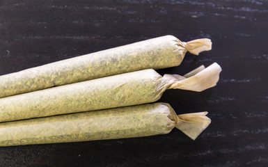 Marijuana Joints Isolated - Cannabis Smoking