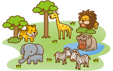 草原の動物達