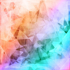 Grunge style low poly background
