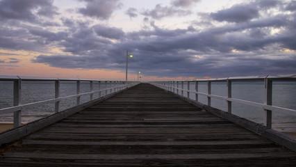Hervey Bay Australia - Sunrise at Urangan Pier