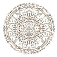 Flower Mandala vector illustration. Oriental pattern, vintage decorative elements. Round floral ornament pattern. Design element in Indian Mehndi style. Vector illustration